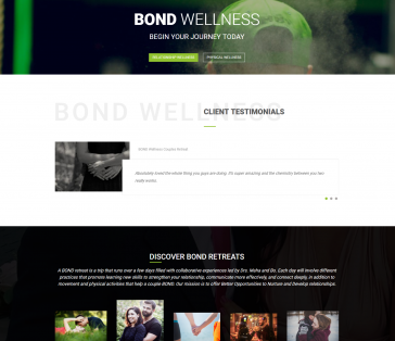 Bond Wellness Splash Page Client Testimonials Section