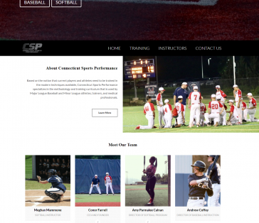 CT Sports Performance Splash Page