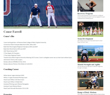 CT Sports Performance Trainer Pages
