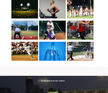 CT Sports Performance Splash Page Service Focus and Testimonials