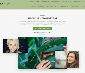 Eco Chic Salon Splash Page