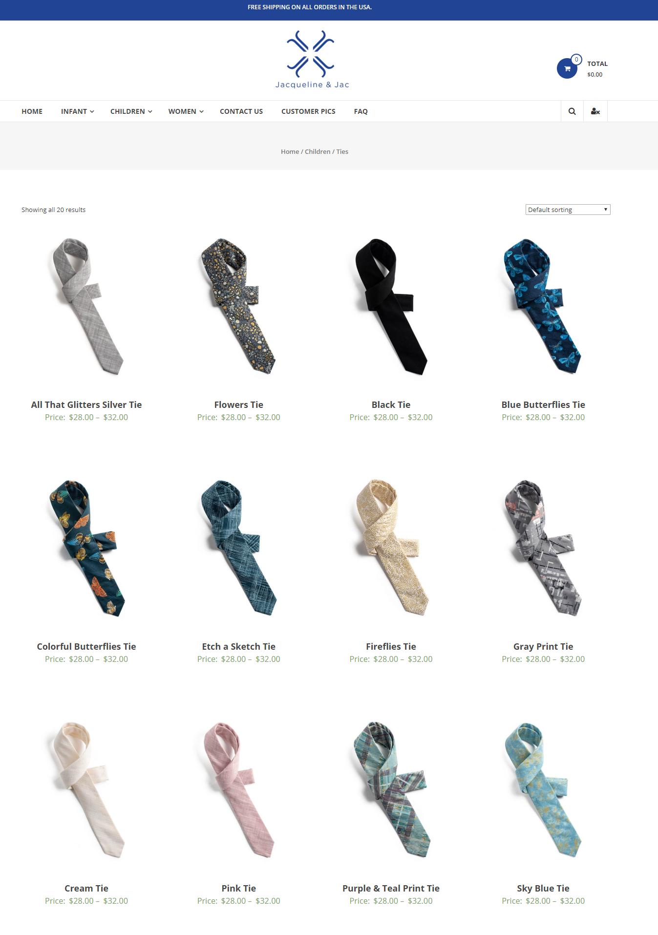 Jacqueline & Jac Product Pages
