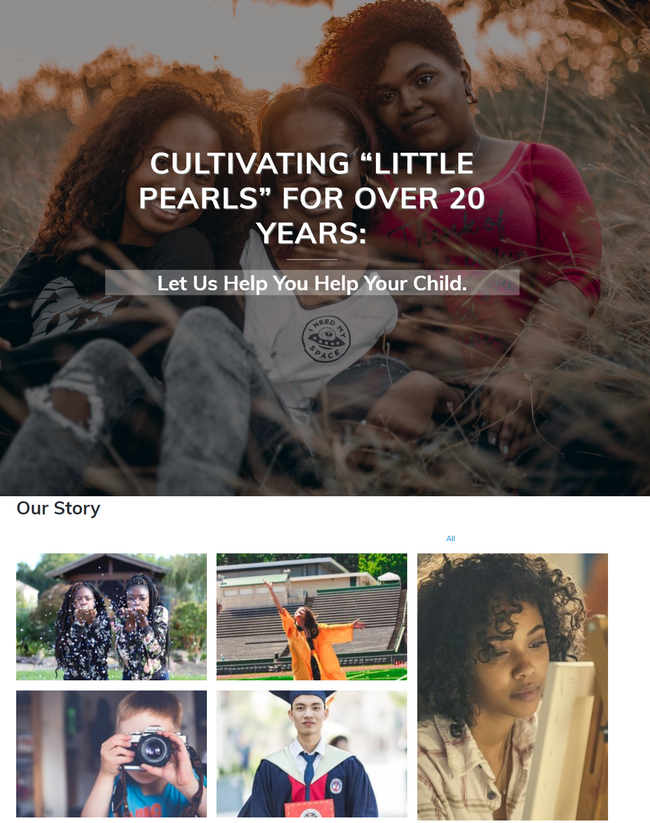 Little Pearls Education group Splash Page