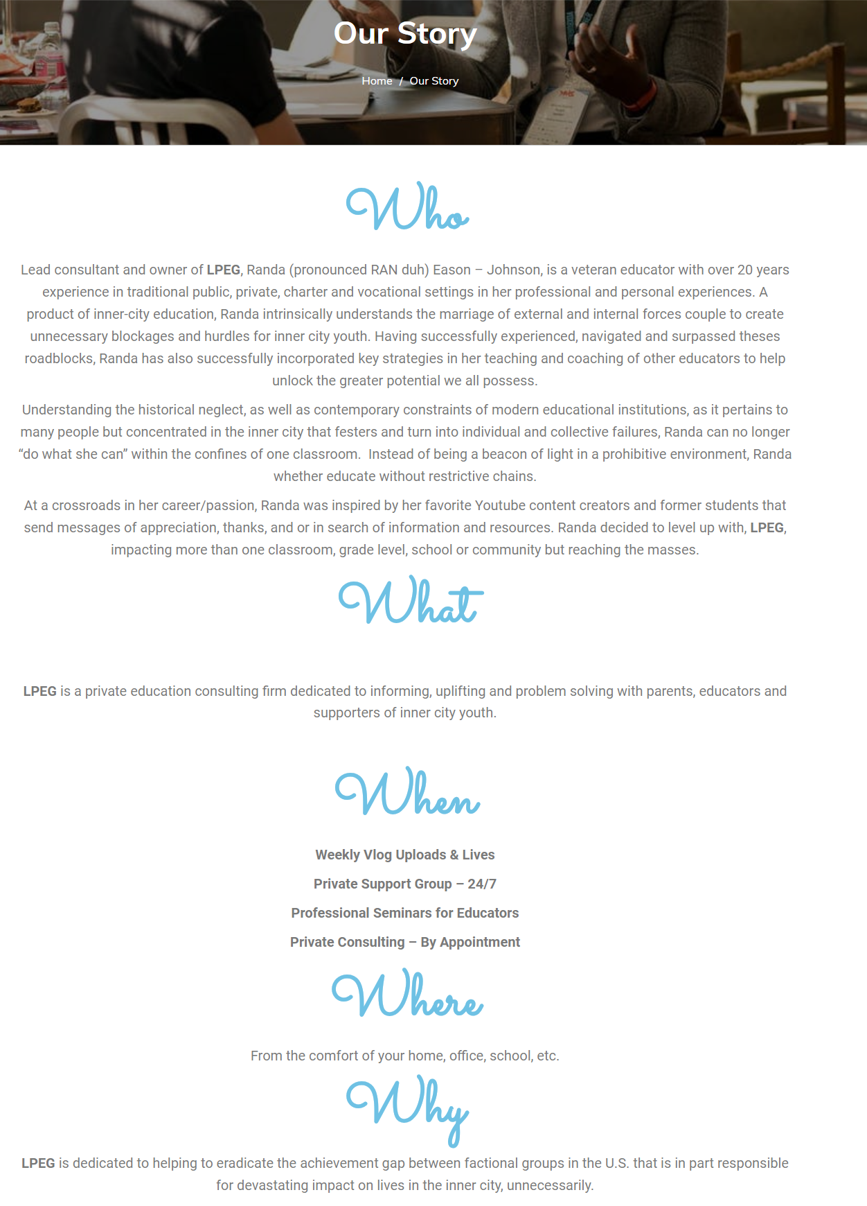 Little Pearls Education Group Introduction Page