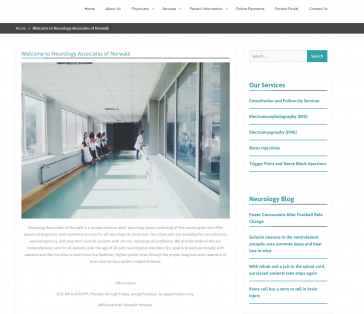 Neurology Associates of Norwalk Introduction Page