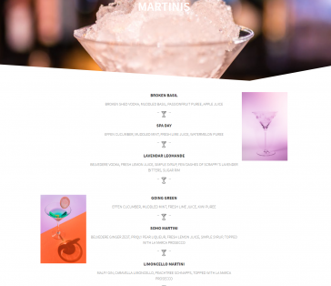 SOHOBar South Norwalk CT Menu Pages